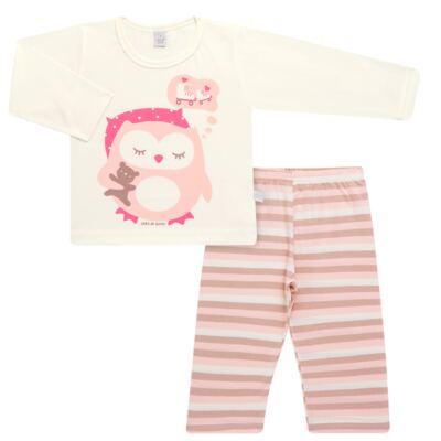 Imagem 1 do produto Pijama longo em malha Corujita - Cara de Sono - L2437 CORUJA L PG-LONGO M/MALHA-1