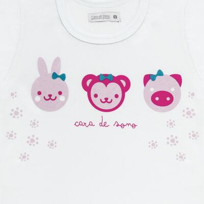 Imagem 3 do produto Pijama longo em malha Bichinhos - Cara de Sono - L1743 ANIMAIS FEM. L PJ-LONGO M/MALHA-4