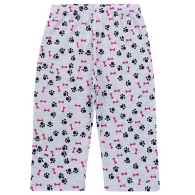 Imagem 6 do produto Pijama longo para bebe que Brilha no Escuro Black Pug - Cara de Criança - L2341 PUG FEM L PJ-LONGO M/MALHA -1
