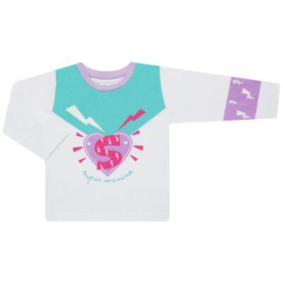 Imagem 2 do produto Pijama longo que Brilha no Escuro Super Menina - Cara de Criança - L1021 Pijama longo que Brilha no Escuro Super Menina-3