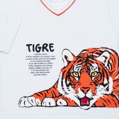 Imagem 3 do produto Pijama longo que Brilha no escuro Tigre - Cara de Criança - L2357 TIGRE L PJ-LONGO M/MALHA -3