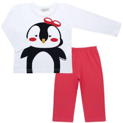 Imagem 1 do produto Pijama longo c/ Capri Pinguinha - Cara de Sono - L1729 PINGUINHA L PJ-LONGO M/MALHA-4