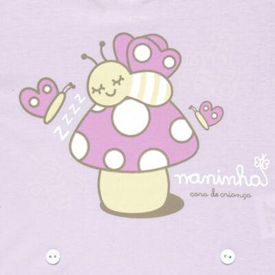 Imagem 3 do produto Pijama 4 botões que Brilha no Escuro Butterfly - Cara de Criança - 4L1947 COGUMELO 4L PJ 4 BOTOES - LONGO M/MALHA -G