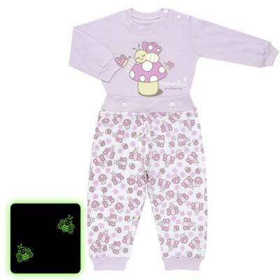 Imagem 1 do produto Pijama 4 botões que Brilha no Escuro Butterfly - Cara de Criança - 4L1947 COGUMELO 4L PJ 4 BOTOES - LONGO M/MALHA -M