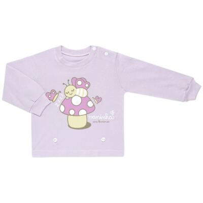 Imagem 2 do produto Pijama 4 botões que Brilha no Escuro Butterfly - Cara de Criança - 4L1947 COGUMELO 4L PJ 4 BOTOES - LONGO M/MALHA -M