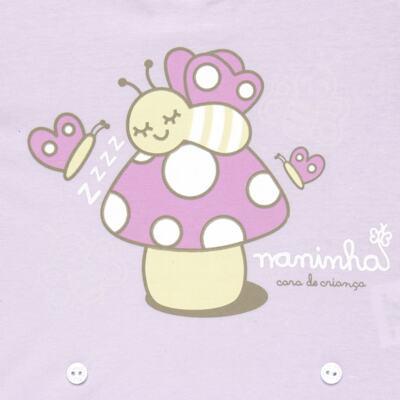 Imagem 3 do produto Pijama 4 botões que Brilha no Escuro Butterfly - Cara de Criança - 4L1947 COGUMELO 4L PJ 4 BOTOES - LONGO M/MALHA -M