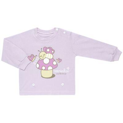 Imagem 2 do produto Pijama 4 botões que Brilha no Escuro Butterfly - Cara de Criança - 4L1947 COGUMELO 4L PJ 4 BOTOES - LONGO M/MALHA -GG