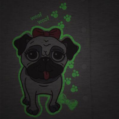 Imagem 3 do produto Pijama que Brilha no Escuro Pug - Cara de Criança - L0553 PIJAMA QUE BRILHA NO ESCURO PUG-3