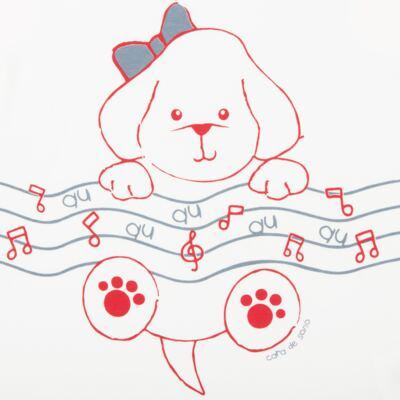 Imagem 2 do produto Camisola em malha Cachorrinha - Cara de Sono
