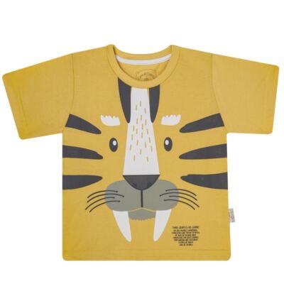 Imagem 2 do produto Pijama curto em malha que Brilha no Escuro Tigre - Cara de Criança - C2897 TIGRE C PJ MG CURTA C/CALCA M/MALHA-1
