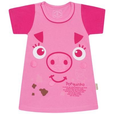 Imagem 1 do produto Camisola que Brilha no Escuro Pink Pig - Cara de Criança - 1379-PIG CA PJ-CAMISOLA M/MALHA-2