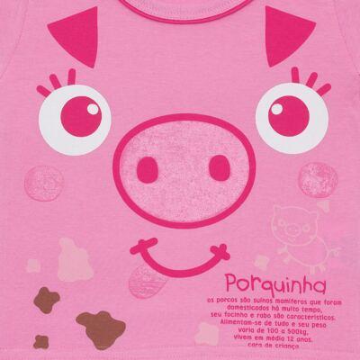 Imagem 2 do produto Camisola que Brilha no Escuro Pink Pig - Cara de Criança - 1379-PIG CA PJ-CAMISOLA M/MALHA-2