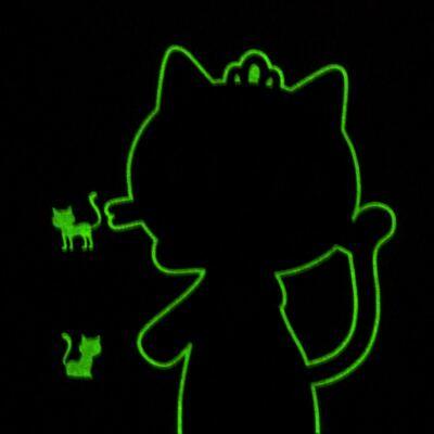 Imagem 4 do produto Pijama curto em malha que Brilha no Escuro Gata Bombaim - Cara de Criança - C2893 GATA BOMBAIM C PJ-MG CURTA C/CALCA M/MALHA-1