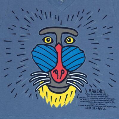 Imagem 4 do produto Pijama curto que Brilha no Escuro Mandril - Cara de Criança - U0903 PIJAMA CURTO QUE BRILHA NO ESCURO MANDRIL-6