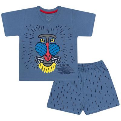 Imagem 1 do produto Pijama curto que Brilha no Escuro Mandril - Cara de Criança - U0903 PIJAMA CURTO QUE BRILHA NO ESCURO MANDRIL-2