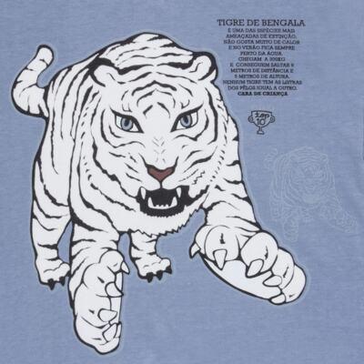 Imagem 4 do produto Pijama curto que Brilha no Escuro Tigre Branco - Cara de Criança - U2283 TIGRE BRANCO U PIJAMA CURTO M/MALHA-4