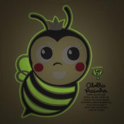 Imagem 3 do produto Pijama curto que Brilha no Escuro Little Bee - Cara de Criança - U2278 ABELHA PIJAMA-CURTO M/MALHA -1