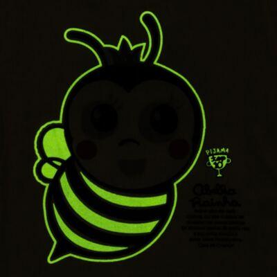 Imagem 5 do produto Pijama curto que Brilha no Escuro Little Bee - Cara de Criança - U2278 ABELHA PIJAMA-CURTO M/MALHA -2