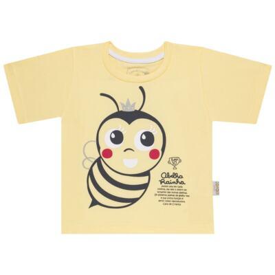 Imagem 2 do produto Pijama curto que Brilha no Escuro Little Bee - Cara de Criança - U2278 ABELHA PIJAMA-CURTO M/MALHA -4