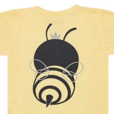 Imagem 6 do produto Pijama curto que Brilha no Escuro Little Bee - Cara de Criança - U2278 ABELHA PIJAMA-CURTO M/MALHA -4