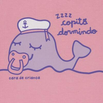 Imagem 3 do produto Pijama curto que Brilha no Escuro Miss Captain - Cara de Criança - BC1942 BALEINHA BC PJ-BB CURTA C/CALCA M/MALHA-P