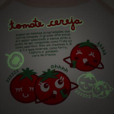 Imagem 3 do produto Pijama Regata que Brilha no Escuro Tomatinho Cereja - Cara de Criança - R2277 TOMATE CEREJA R PJ REGATA COTTON -2