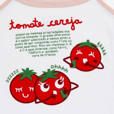 Imagem 4 do produto Pijama Regata que Brilha no Escuro Tomatinho Cereja - Cara de Criança - R2277 TOMATE CEREJA R PJ REGATA COTTON -2