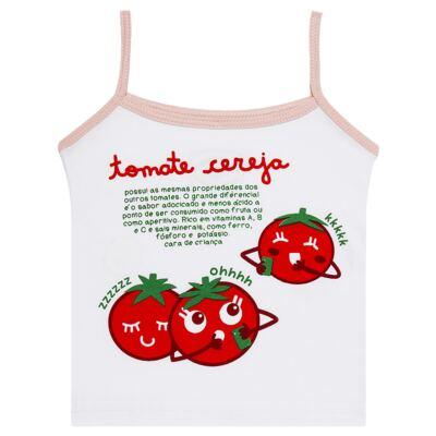 Imagem 2 do produto Pijama Regata que Brilha no Escuro Tomatinho Cereja - Cara de Criança - R2277 TOMATE CEREJA R PJ REGATA COTTON -4
