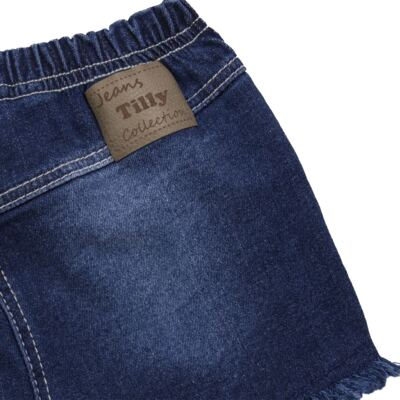 Imagem 2 do produto Shorts para bebê jeans Destroyed - Tilly Baby - TB168000 SHORT JEANS FEMININO-2