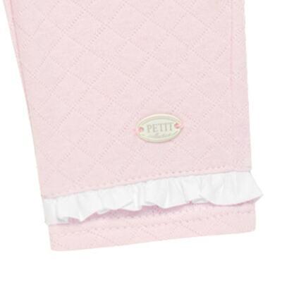 Imagem 3 do produto Calça para bebe em viscomfort matelassê Rose - Petit - 41134344 CALÇA C/ BABADO MATELASSE OVELHA FEM -M