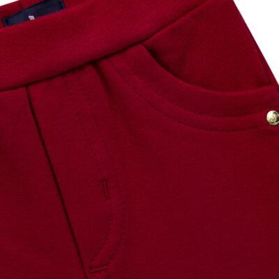 Imagem 2 do produto Calça para bebe em molicotton Vermelha - Mini Sailor - 41634263 CALÇA C/ BOLSO MOLICOTTON VERMELHO-0-3