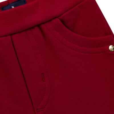 Imagem 2 do produto Calça para bebe em molicotton Vermelha - Mini Sailor - 41634263 CALÇA C/ BOLSO MOLICOTTON VERMELHO-1