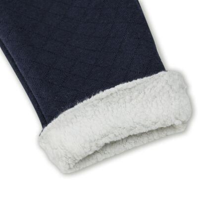 Imagem 3 do produto Calça para bebe Matelassê & Pelúcia Marinho - Mini Sailor - 41644262 CALÇA FORRADA BOLSO E VIVO MATELASSE MARINHO -0-3