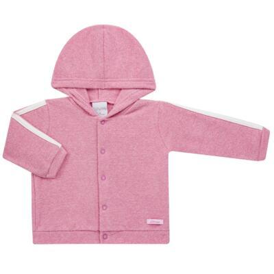Imagem 2 do produto Casaco c/ capuz e Calça para bebe em soft Rosa - Tilly Baby - TB0172020.10 CONJ. CASACO COM CALÇA SOFT ROSA-G