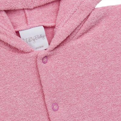 Imagem 3 do produto Casaco c/ capuz e Calça para bebe em soft Rosa - Tilly Baby - TB0172020.10 CONJ. CASACO COM CALÇA SOFT ROSA-3