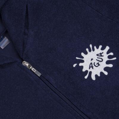 Imagem 2 do produto Roupão atoalhado com capuz marinho - Cara de Criança - RO2157 ROUPAO MARINHO ATOALHADO-3