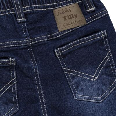 Imagem 2 do produto Calça jeans masculina para bebe Stonewhashed - Tilly Baby - TB168003 CALÇA JEANS MASCULINA-M