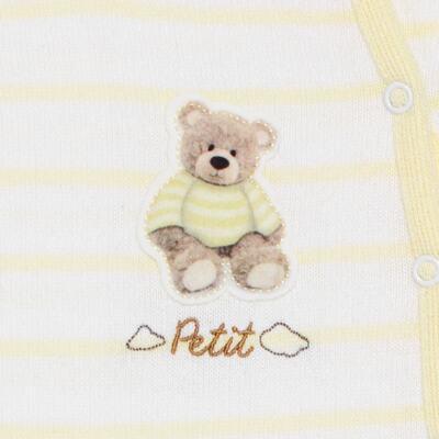 """Imagem 2 do produto Macacão longo com abertura """"S"""" para bebe em tricot Ursinho - Petit - 22364422 Macacão """"S"""" Tricot Amarelo -P"""