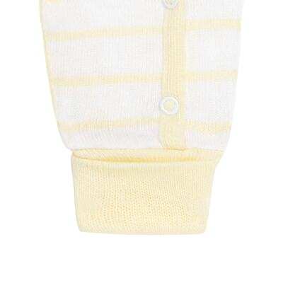 """Imagem 3 do produto Macacão longo com abertura """"S"""" para bebe em tricot Ursinho - Petit - 22364422 Macacão """"S"""" Tricot Amarelo -P"""