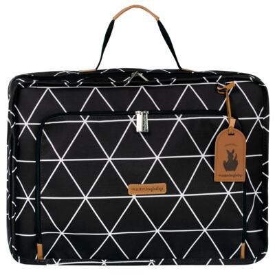 Imagem 2 do produto Mala maternidade Vintage + Bolsa Everyday + Frasqueira térmica Emy + Mochila Noah + Necessaire Manhattan Preta - Masterbag