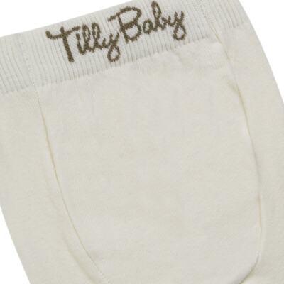 Imagem 3 do produto Meia-Calça para bebe em algodão Marfim - Tilly Baby - TB172031.03 ACESSORIO MEIA UNISSEX BASICA MARFIM-2