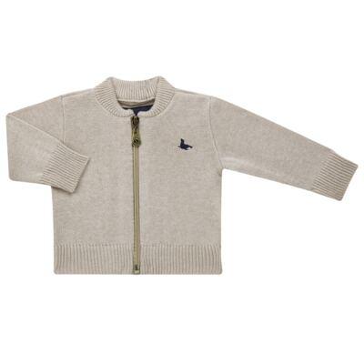 Imagem 1 do produto Casaquinho para bebe em tricot Caqui - Mini Sailor - 75494267 CASACO BASICO ZIPER TRICOT CAQUI-1