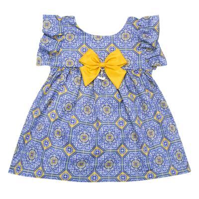 Imagem 2 do produto Vestido c/ calcinha para bebe Azulê - Roana - 24042059022 VESTIDO C/CALCINHA AZUL-P