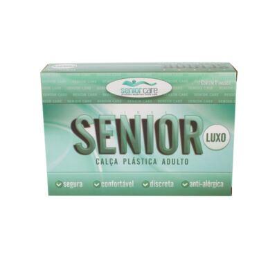 Imagem 1 do produto Calça Plástica Bege Com Botão Luxo Senior Care - P