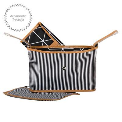 Imagem 5 do produto Mala maternidade Vintage + Bolsa Everyday + Frasqueira Organizadora Manhattan Azul - Masterbag