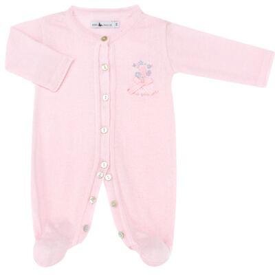 Imagem 2 do produto Macacão longo c/ Body regata para bebe em tricot Liberty - Mini Sailor - 17344441 Macacão Longo c/ Body Tricot Rosa-0-3