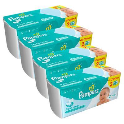 Imagem 1 do produto Kit Lencinhos Umedecidos Pampers Fresh Clean 384 Unidades