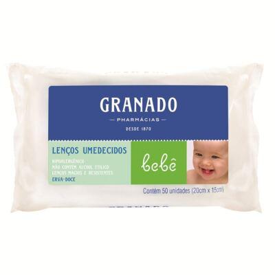 Imagem 1 do produto Lenços Umedecidos Granado Bebê Erva Doce 50 Unidades