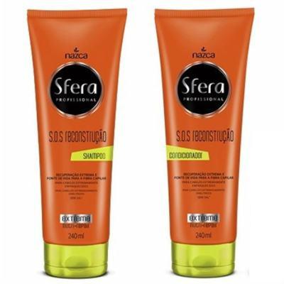 Imagem 1 do produto Kit Nazca Sfera S.O.S Reconstrução Shampoo 240ml + Condicionador 240ml