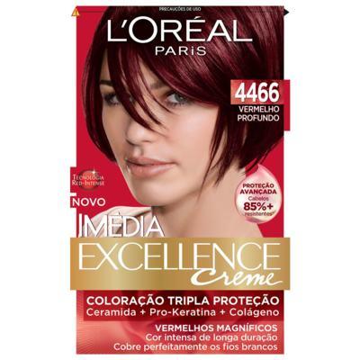 Imagem 4 do produto Tintura para cabelo Imédia L'Oréal 4466 Vermelho Profundo -